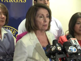 Pelosi tours immigration centers in San Diego
