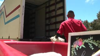 Trucks filled with unwanted items from UCSD