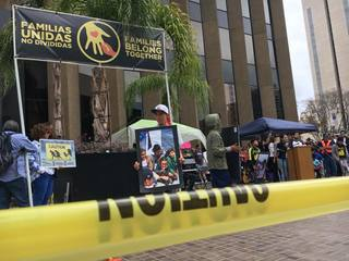 Downtown protests against federal border policy