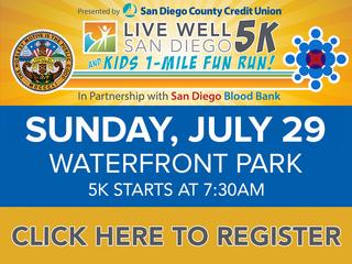 Live Well San Diego 5K, 1-Mile Kids Fun Run