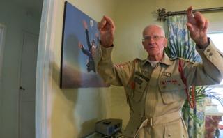 96-year-old veteran skydives in honor of fallen