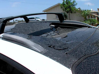 San Diegan says sunroof spontaneously exploded