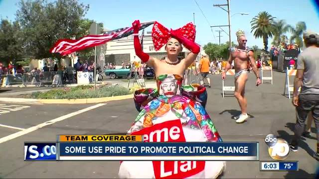 San Diego Pride Parade -- making a political statement