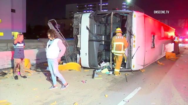 Casino bus crashes in Los Angeles
