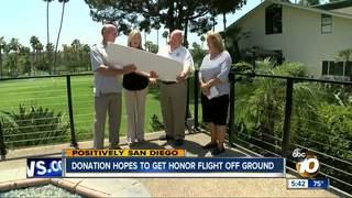Foundation donates $100,000 to Honor Flight