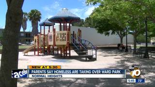 Parents say homeless are taking over Ward Park