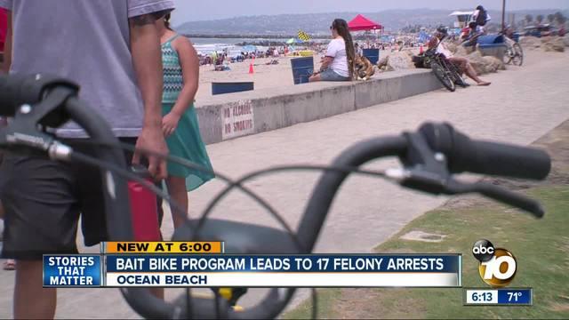 Bait bike program leads to 17 felony arrests