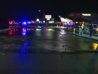 Water main break forces road closure in Santee