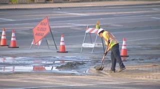 San Marcos water main break closes roads