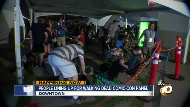 COMIC-CON sleepover- Superfans spend the night to secure a spot for…