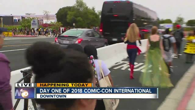 Live from Comic Con San Diego 2018 on opening day