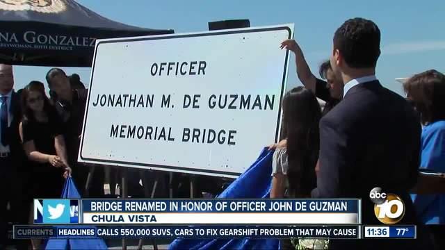 Bridge over I-805 in Chula Vista dedicated to fallen officer