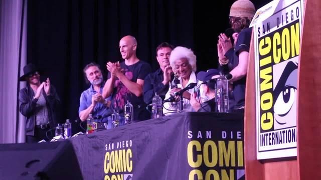 Trekkie delight- Nichelle Nichols at Comic-Con