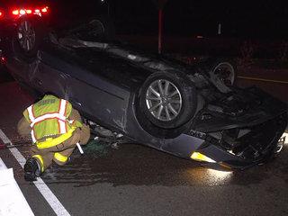 Woman falls asleep at the wheel, crashes on I-5