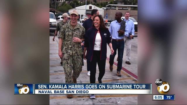 Sen- Kamala Harris goes on submarine tour