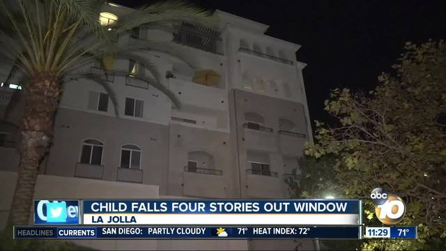 Child in intensive care after fall from apartment window