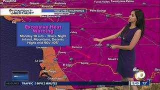 Melissa's Forecast: Heat wave coming