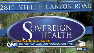 Employees say treatment center owes them money