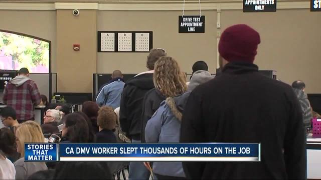 California DMV worker slept thousands of hours on the job
