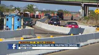 Drivers fed up with Friars Rd construction