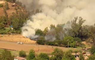 Fire breaks out in San Pasqual Valley