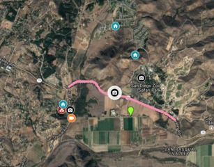 MAP: Third fire breaks out in San Pasqual area