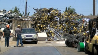Rideshare bikes piling up at San Diego scrapyard