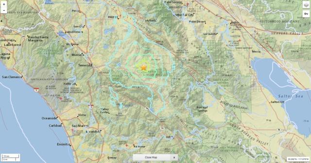 4.4 magnitude earthquake hits east of Temecula