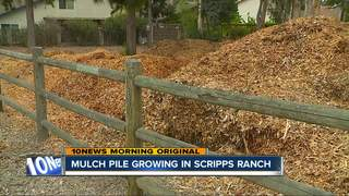 Mulch pile in Scripps Ranch worries neighbors