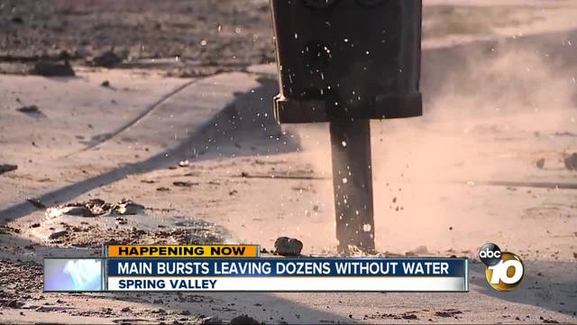 Main bursts leaving dozens without water