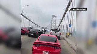 Drivers block traffic on SF Bay Bridge