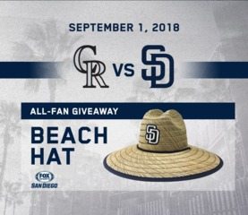 Bugs stop Padres beach hat giveaway