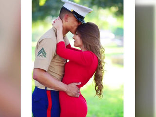 Wife mourns Marine husband who was fatally shot