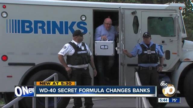 Armed guards for WD-40 secret formula's bank change