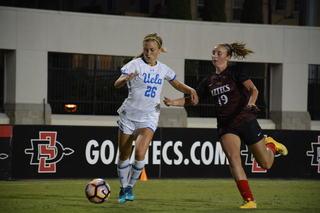 SDSU women's soccer falls 3-0 to No. 8 UCLA