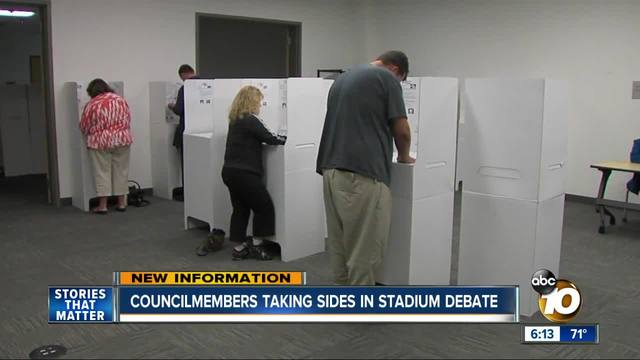 Council members taking sides on Mission Valley stadium site debate