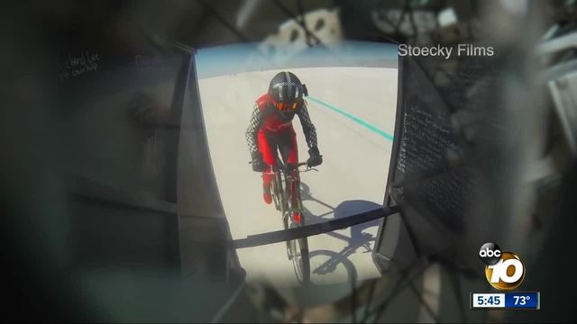 Valley Center woman cruises her way into history- smashing bike speed record