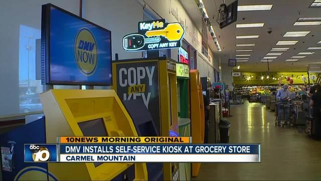 DMV Installs Self Service Kiosk In San Diego Ralphs Store