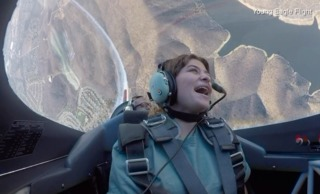 Young Eagles fly in stunt plane