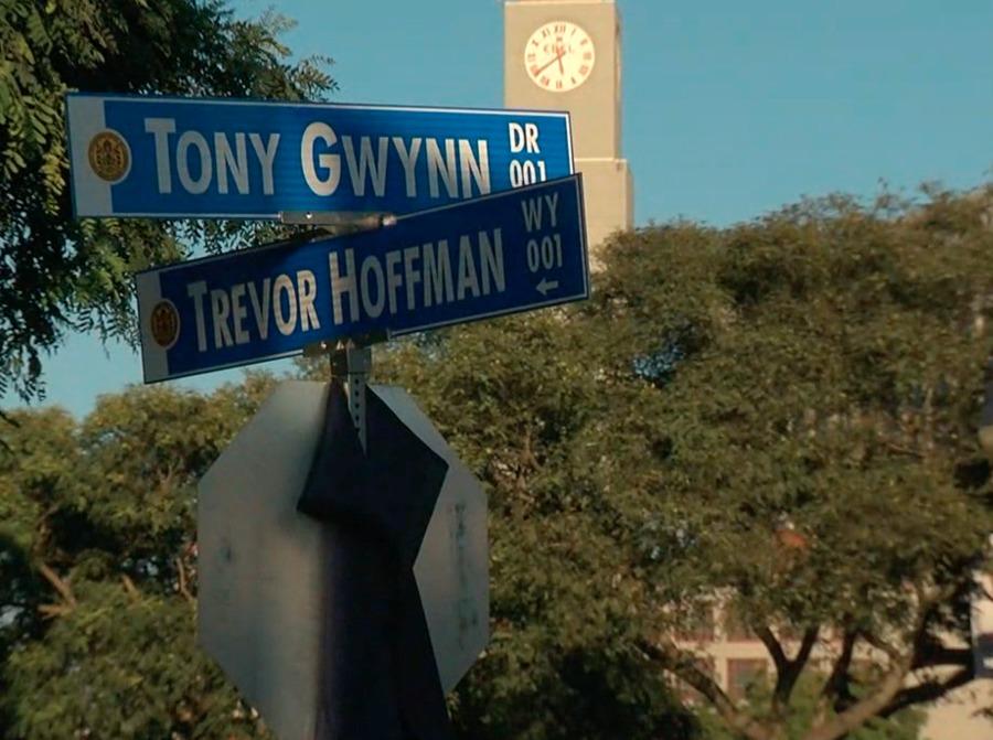 Trevor Hoffman Way unveiled at corner of Petco Park