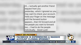 Facebook accounts being cloned?