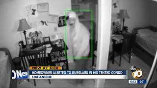 Family alerted to burglars roaming tented condo
