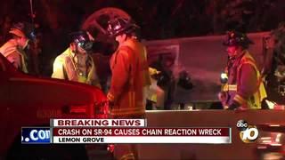 Crash on SR-94 causes chain reaction wreck