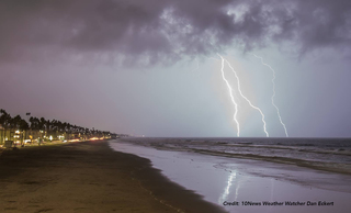 Lightning, flooding, heavy rain hits San Diego