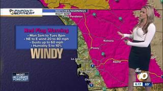Jen's Forecast: Red Flag Warning Monday