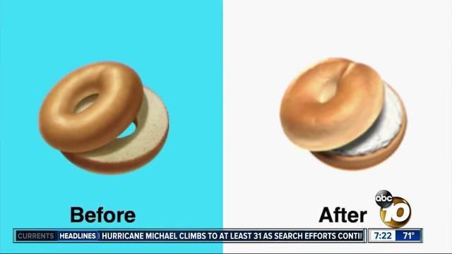 Apple pressured to change bagel emoji?