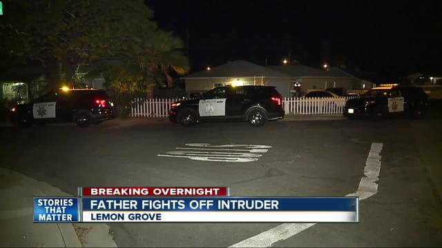 Father finds intruder in Lemon Grove home