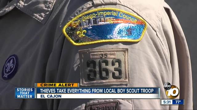 Thieves target El Cajon Boy Scout troop
