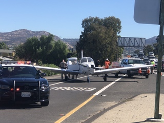 Mother of pilot who landed on the freeway speaks