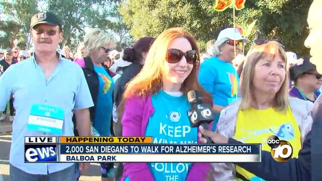 2-000 San Diegans to walk for Alzheimer-s research